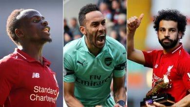 Photo of Football : Pierre-Emerick Aubameyang, Mohamed Salah et Sadio Mané se partagent le titre de meilleur buteur de Premier League