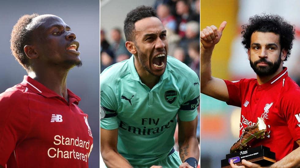 Pierre-Emerick Aubameyang, Mohamed Salah et Sadio Mané se partagent le titre de meilleur buteur de la Première League