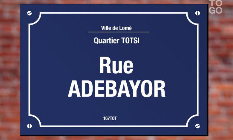 rue au nom d'Emmanuel Adébayor