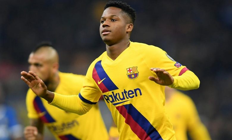 Ansu Fati devient le plus jeune buteur de l'histoire de la Ligue des champions