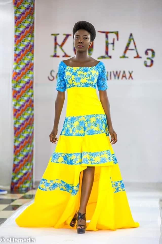 L'une des créations de Gandaho Mélina présentée lors de la 3e édition du festival Kobourou Fashion Awards