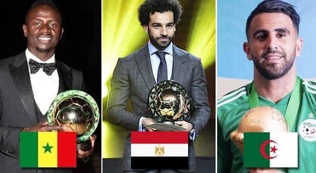 Joueur africain de l'année 2019, qui de Mané, Salah et Mahrez remportera le trophée