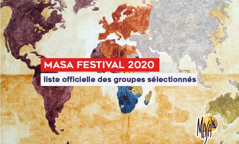 MASA 2020, liste officielle des groupes sélectionnés pour le festival