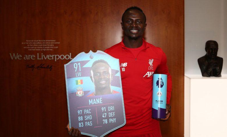 Sadio Mané élu joueur du mois de novembre