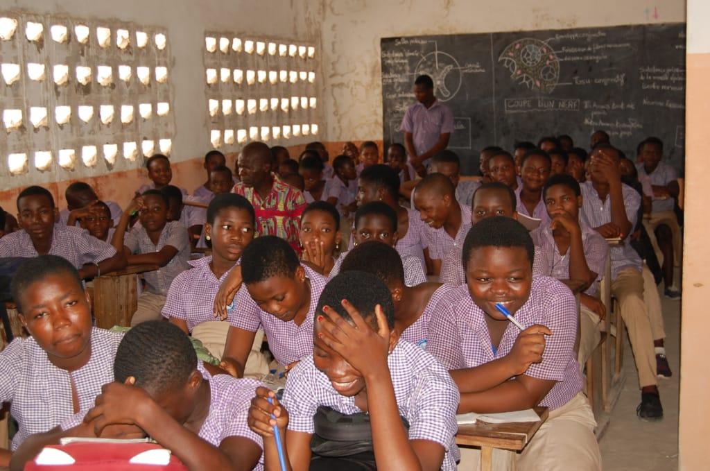 Les élèves du Collège Abigaïl à Adidogomé (Lomé)
