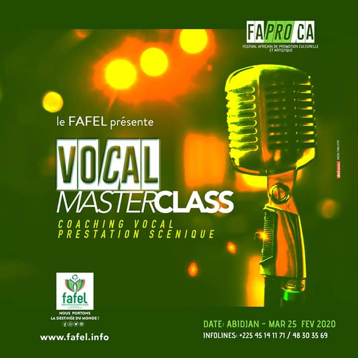 FAFEL 2020, le master class vocale acte 02 aura lieu le 25 février