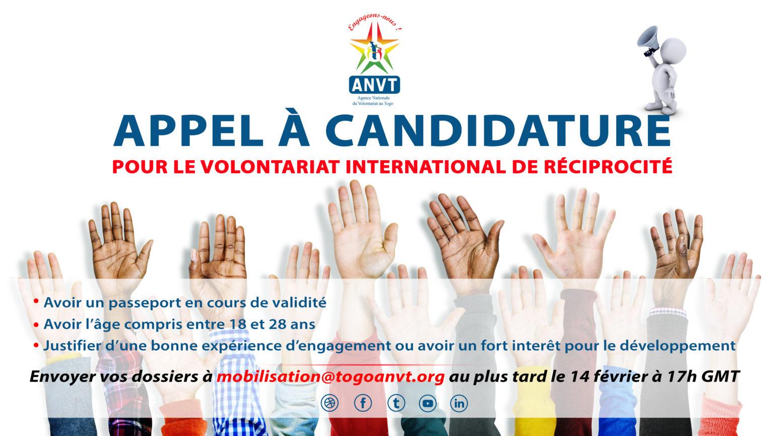 L'Agence National du Volontariat au Togo et l'ILD Bonn procèdent au recrutement de deux volontaires