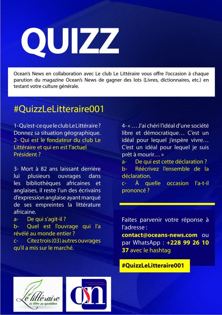 Quizz Le Littéraire