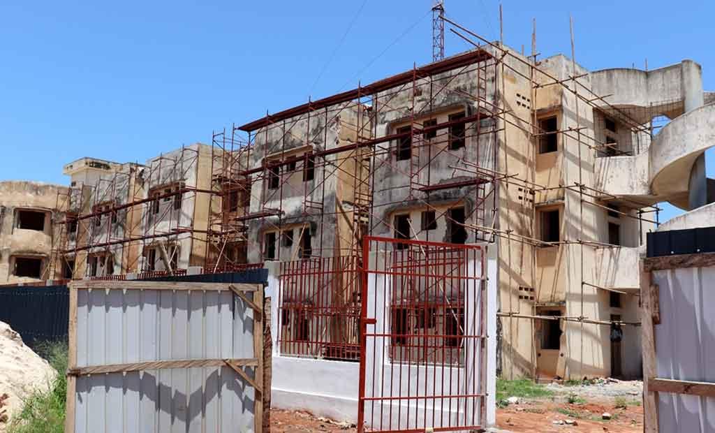 Travaux de construction d'infrastructures