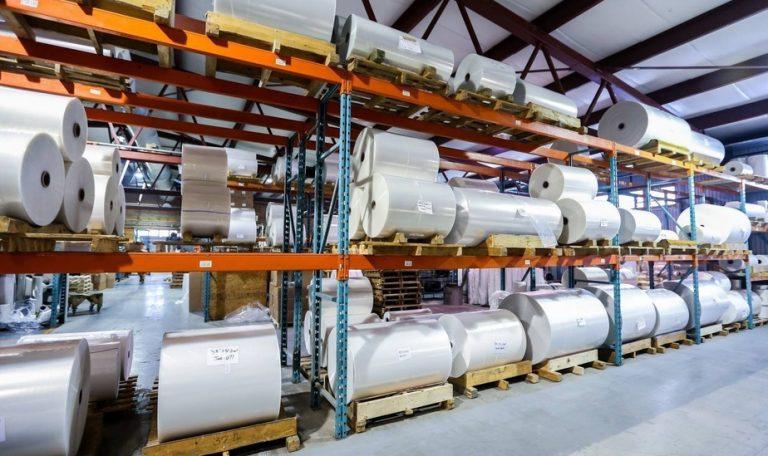 Usine de production d'emballages