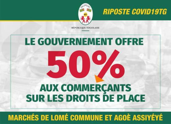 Droits de place dans les marchés de Lomé
