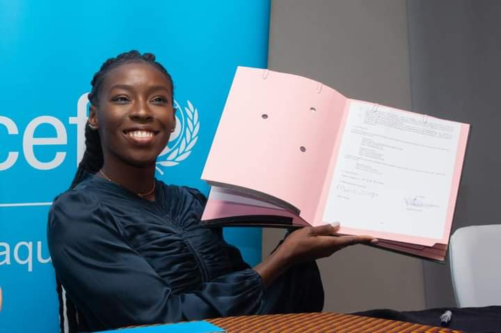 Murielle Ahouré ambassadrice de l'Unicef Côte d'Ivoire