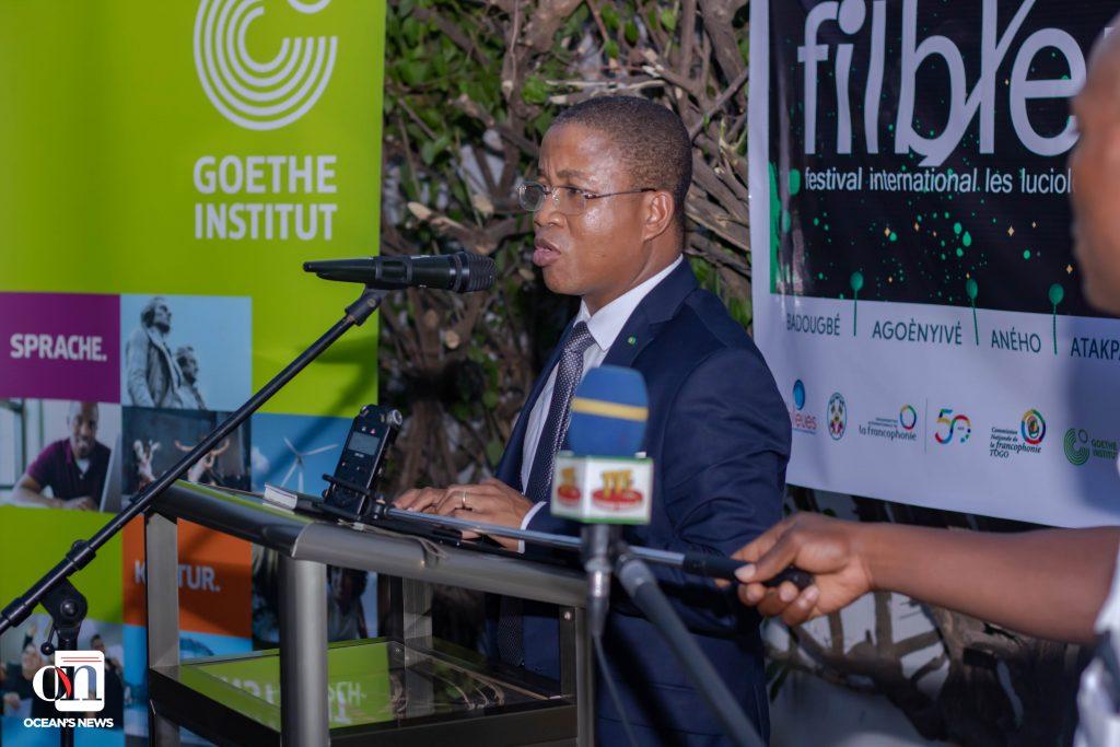 Ocean's News - 13e édition du FILBLEU - le ministre en charge de la Culture, du Tourisme et des Loisirs, M. Kossivi Egbetonyo