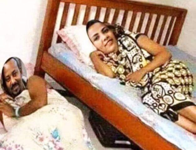 Une photo trafiquée par deux journalistes, montrant le Premier ministre éthiopien et son épouse dans une chambre à coucher
