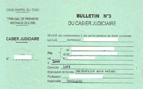 digitalisation des casiers judiciaires au Togo