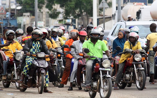 conducteurs de taxi-moto