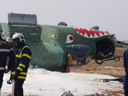 crash d'un hélicoptère Mi 24 à l'aéroport d'Abidjan
